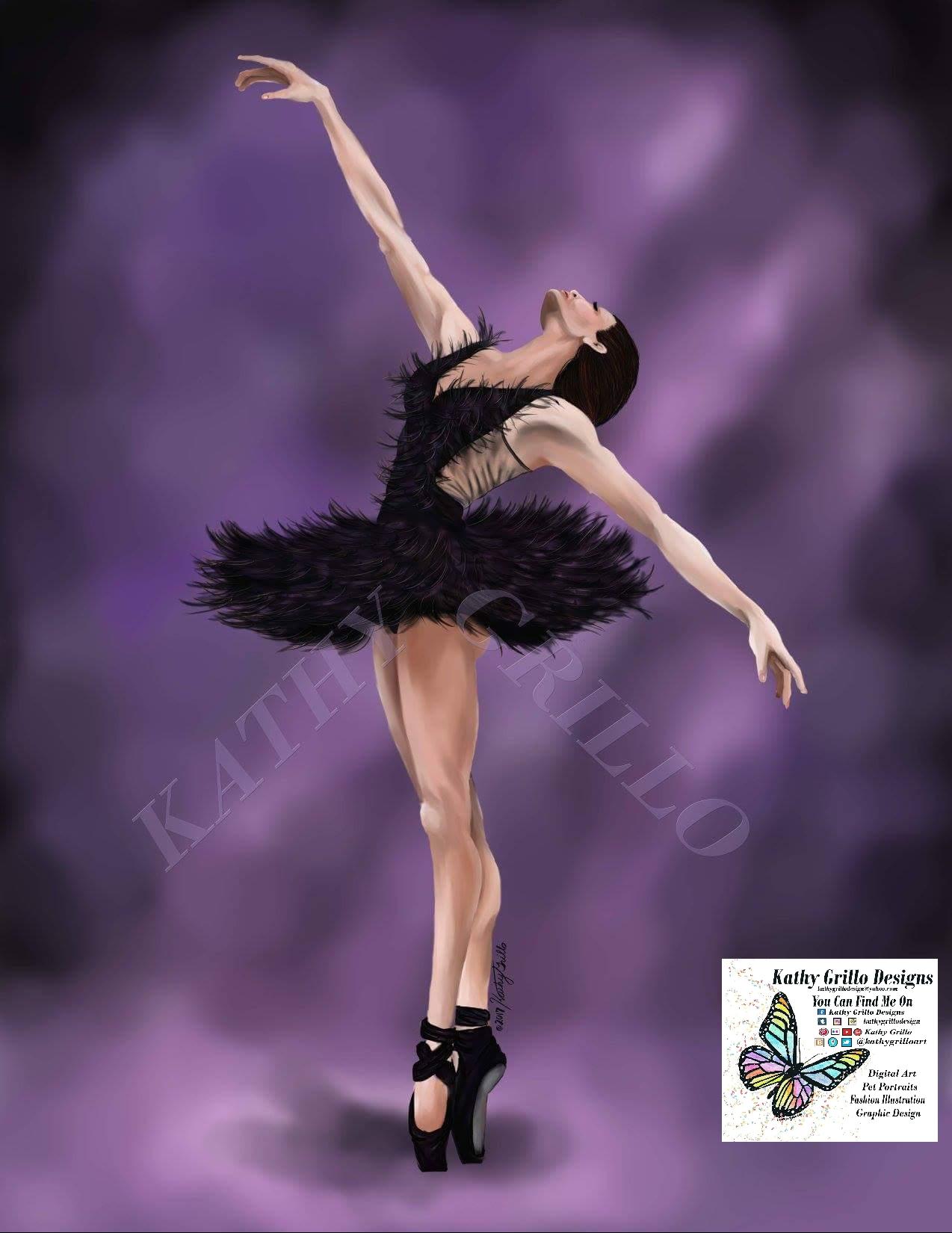 Ballerina, disegno di Kathy Grillo