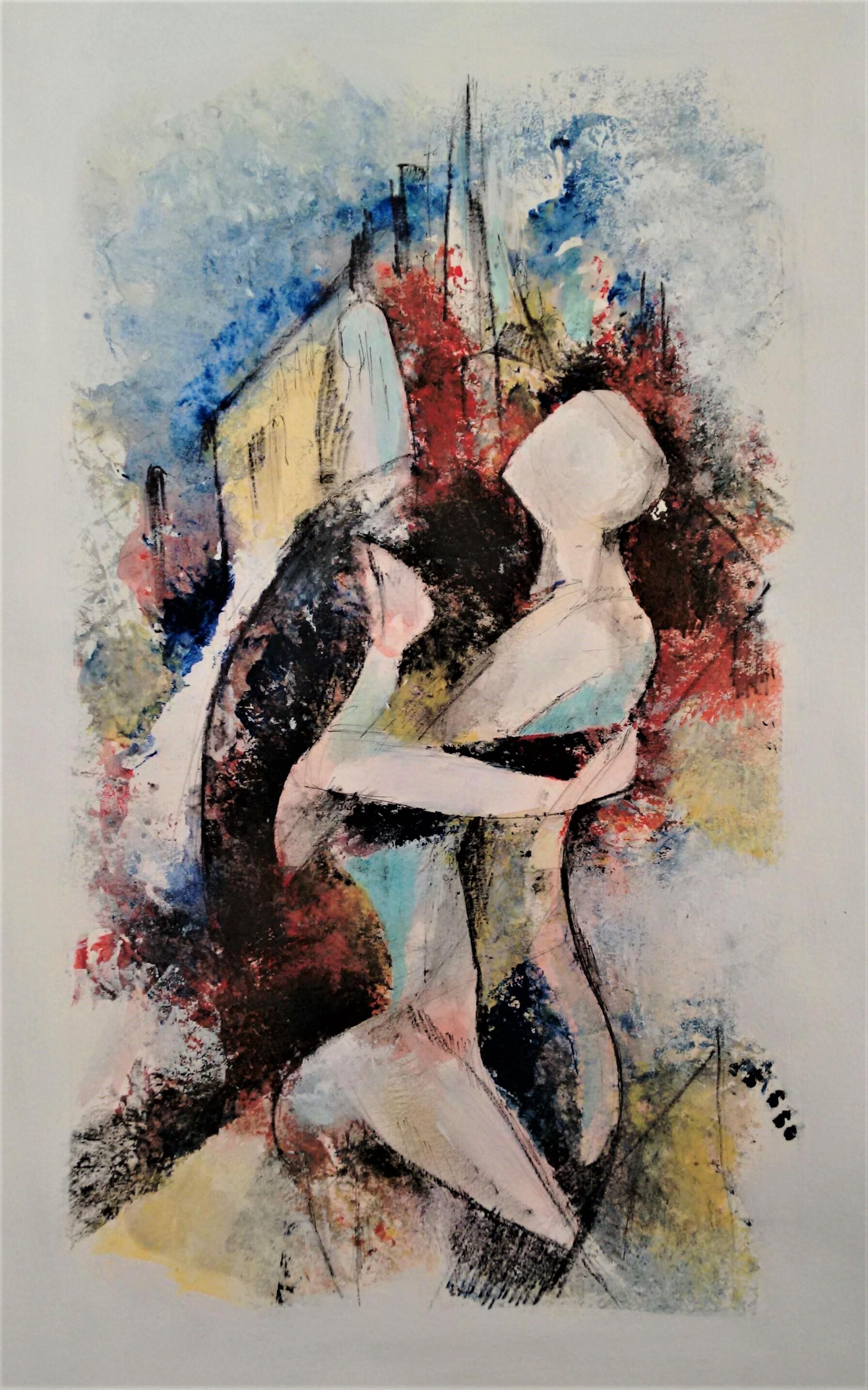 Anime, dipinto di Ivano Petrucci