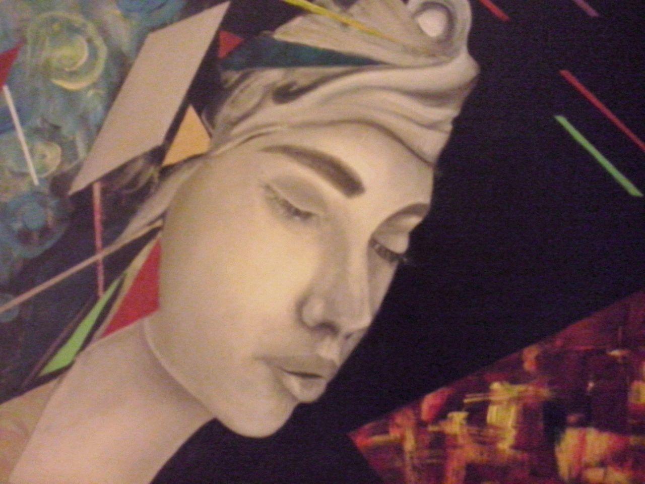 I miei silenzi rumorosi, dipinto di Rosanna Romano / Roro