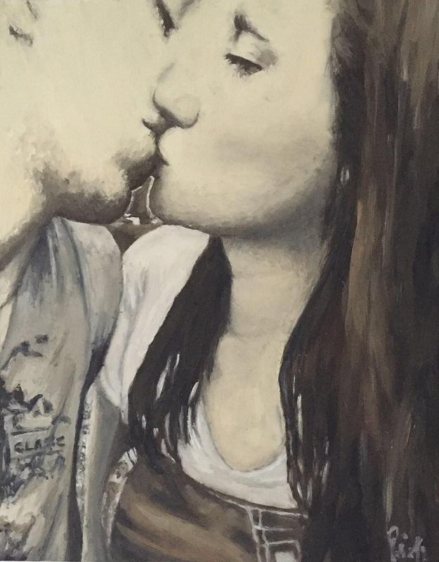 Il bacio, dipinto di Patrick Pioppi