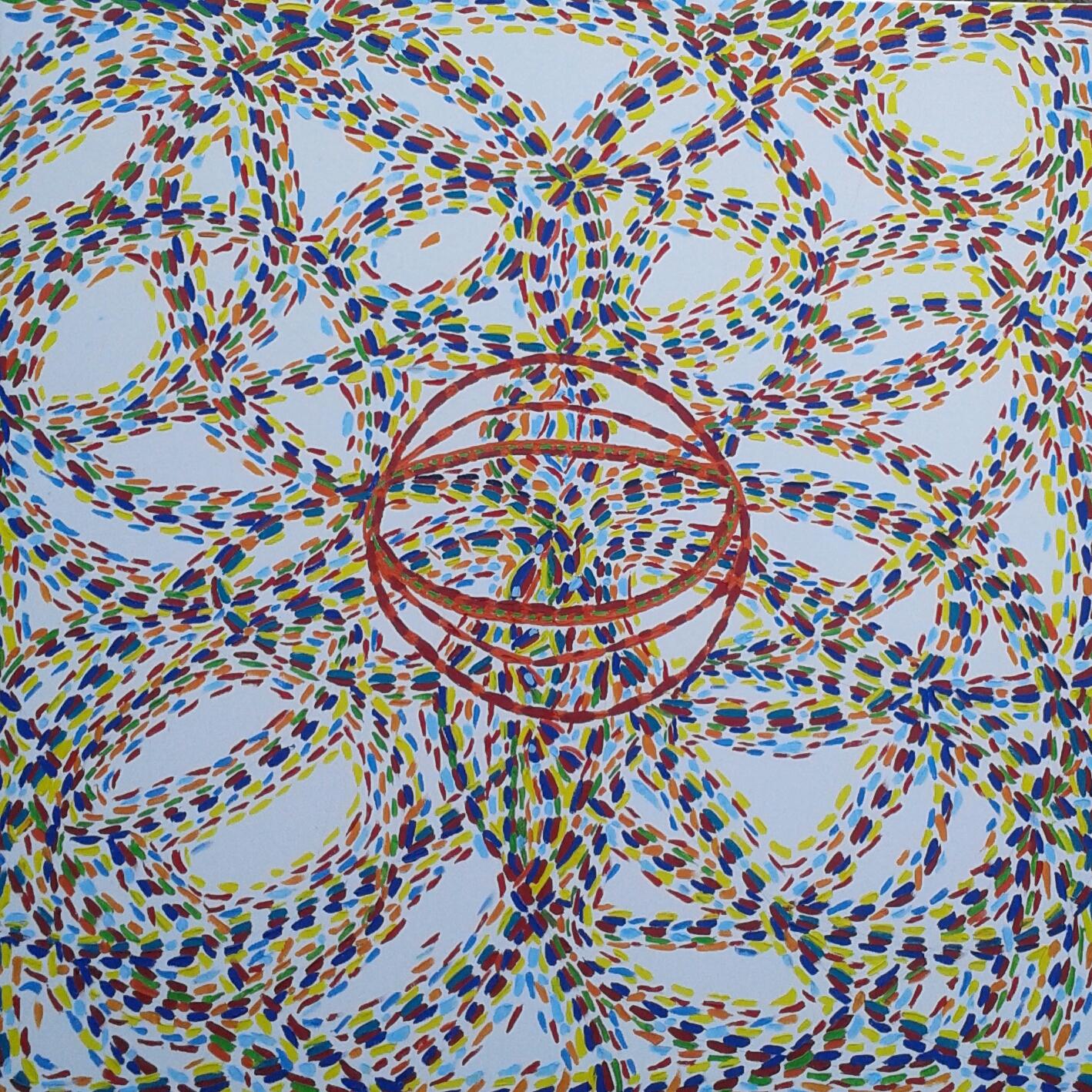 Giovane mondo in rivolta 3, dipinto di Cinzia Orabona