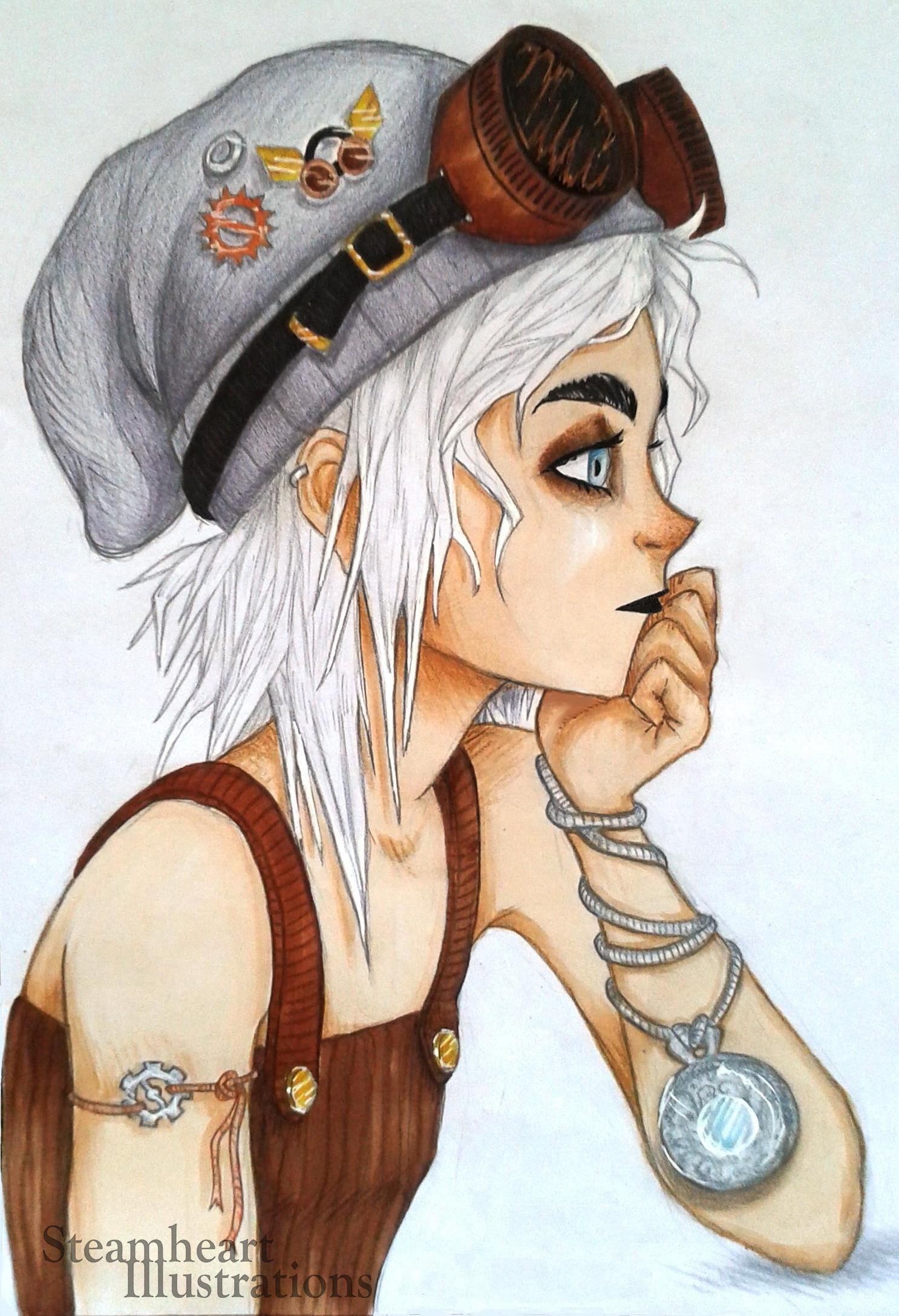 Abigale, disegno di Martina Gargiulo / Steamheart Illustrations