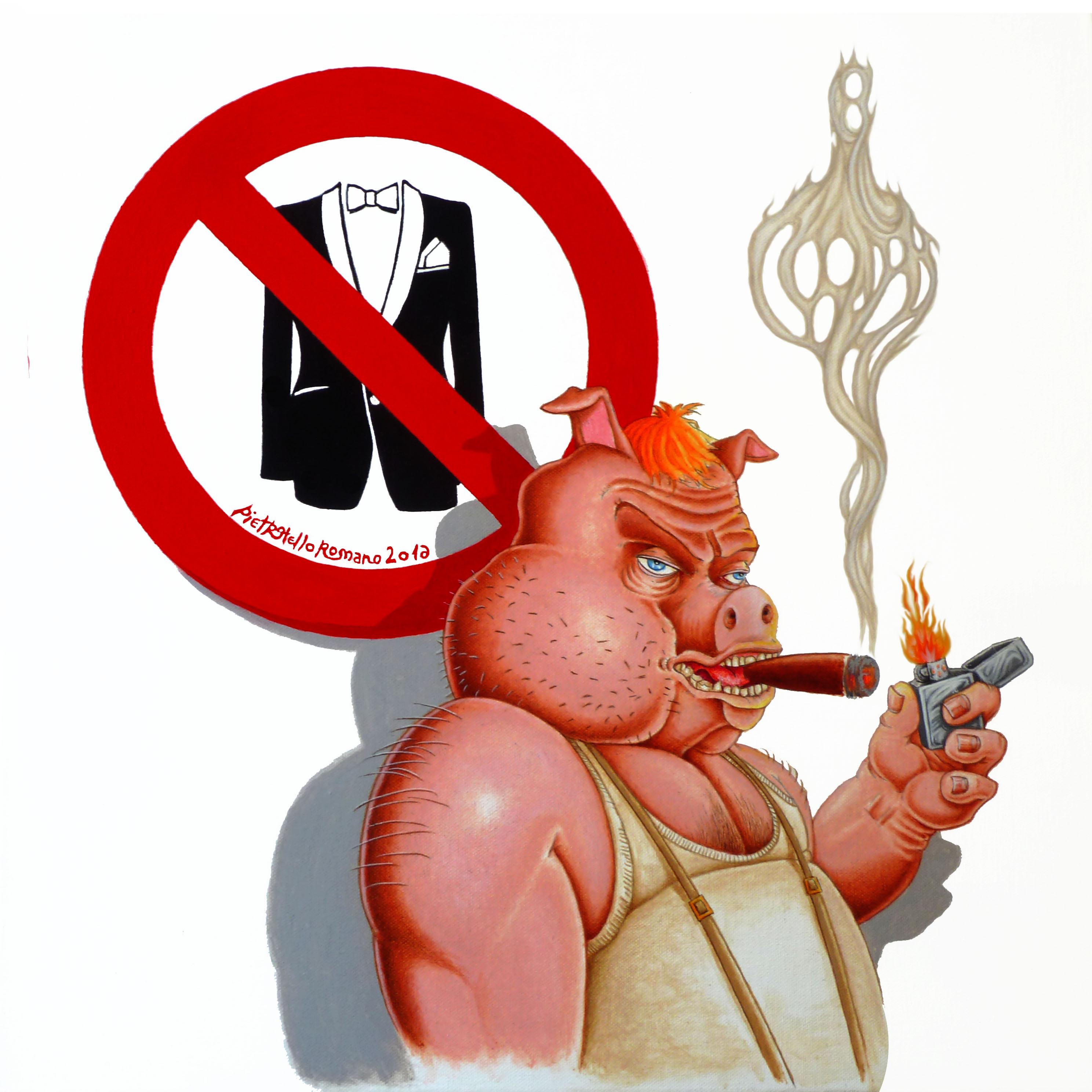 No Smoking, disegno di Pietro Otello Romano