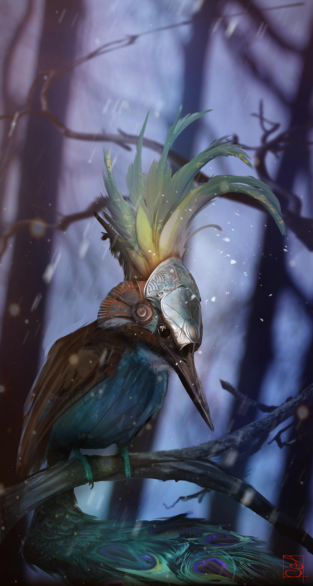 Winter Warrior, dipinto di Diletta De Santis