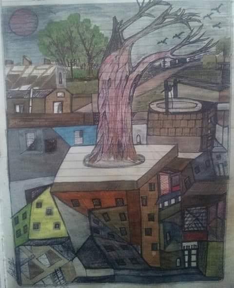 Tree, dipinto di Baba Kailash