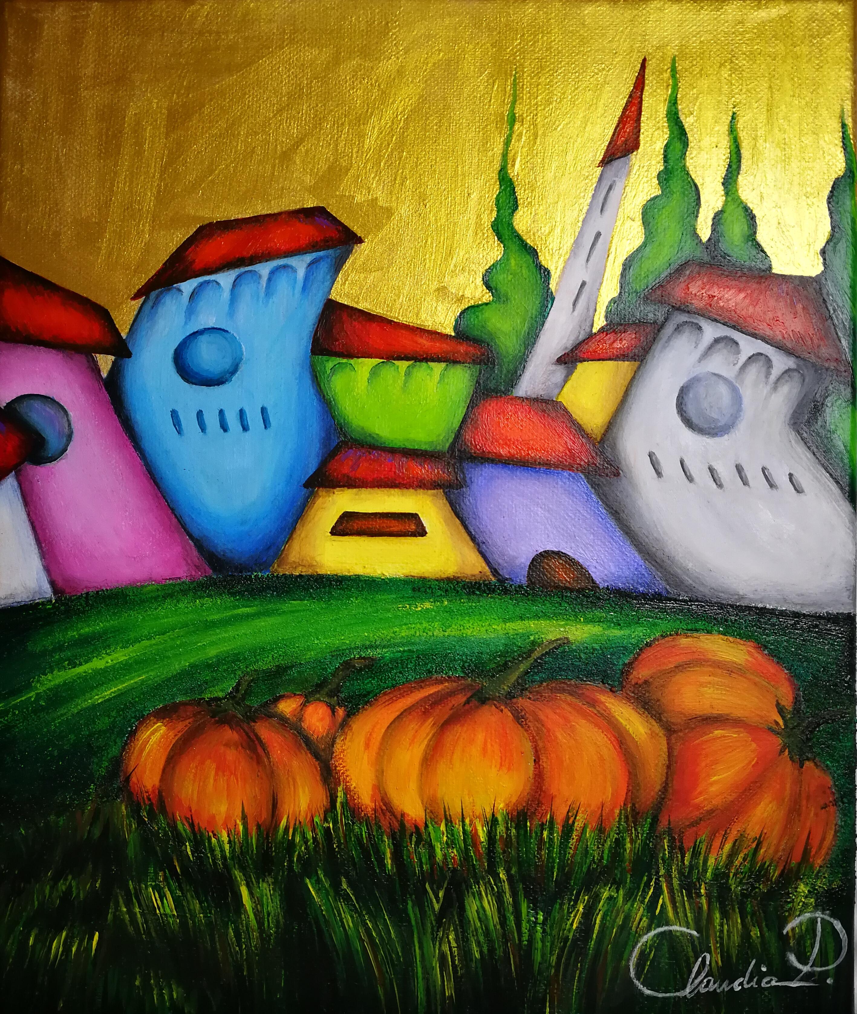 Autunno, dipinto di Claudia Pistola