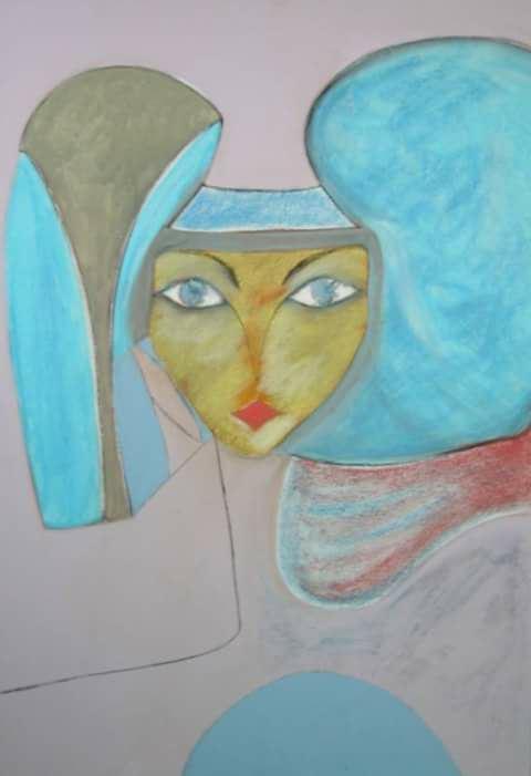 Bifora, dipinto di Cinzia Senesi