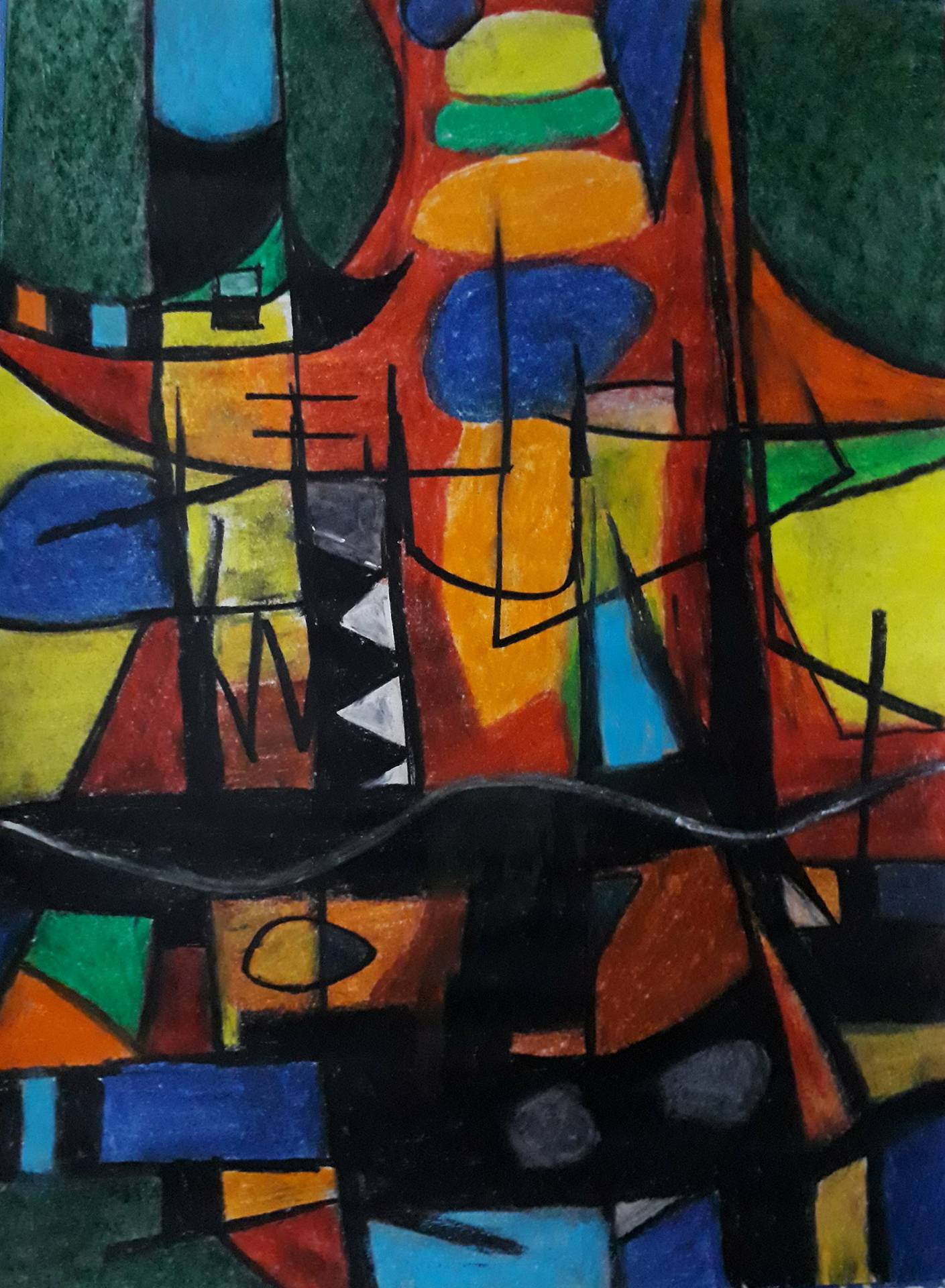 Composition, dipinto di Somnath Basuthakur