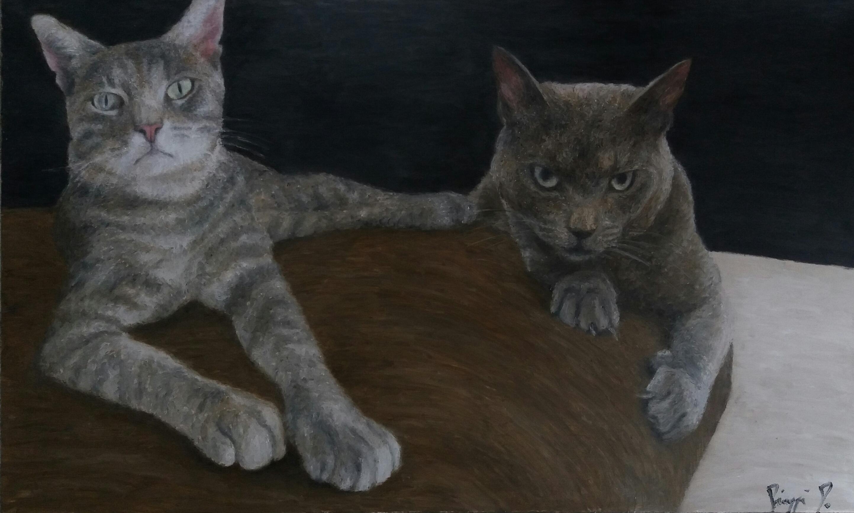 Cats, dipinto di Patrick Pioppi
