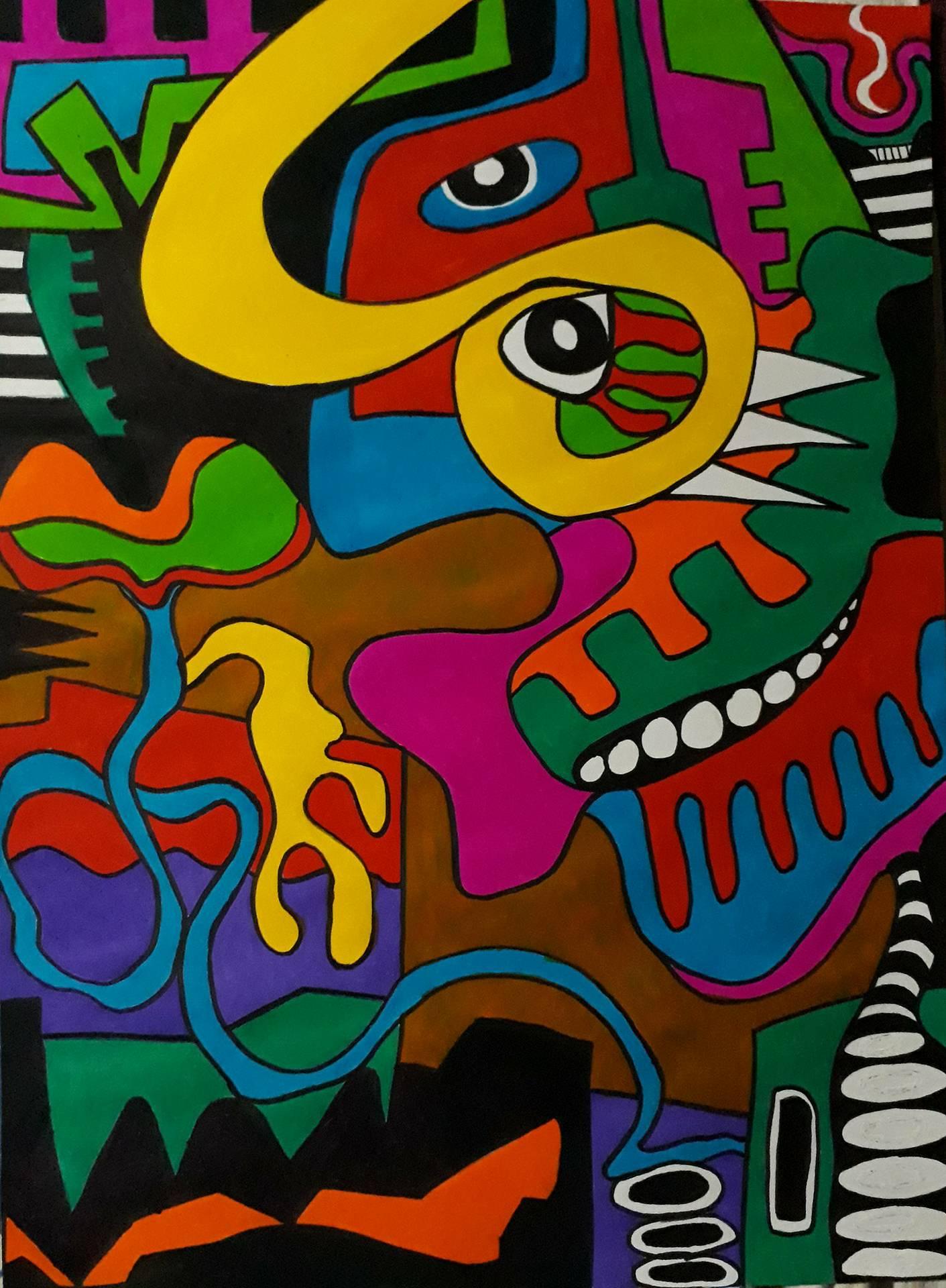 Laughing Skull, dipinto di Somnath Basuthakur