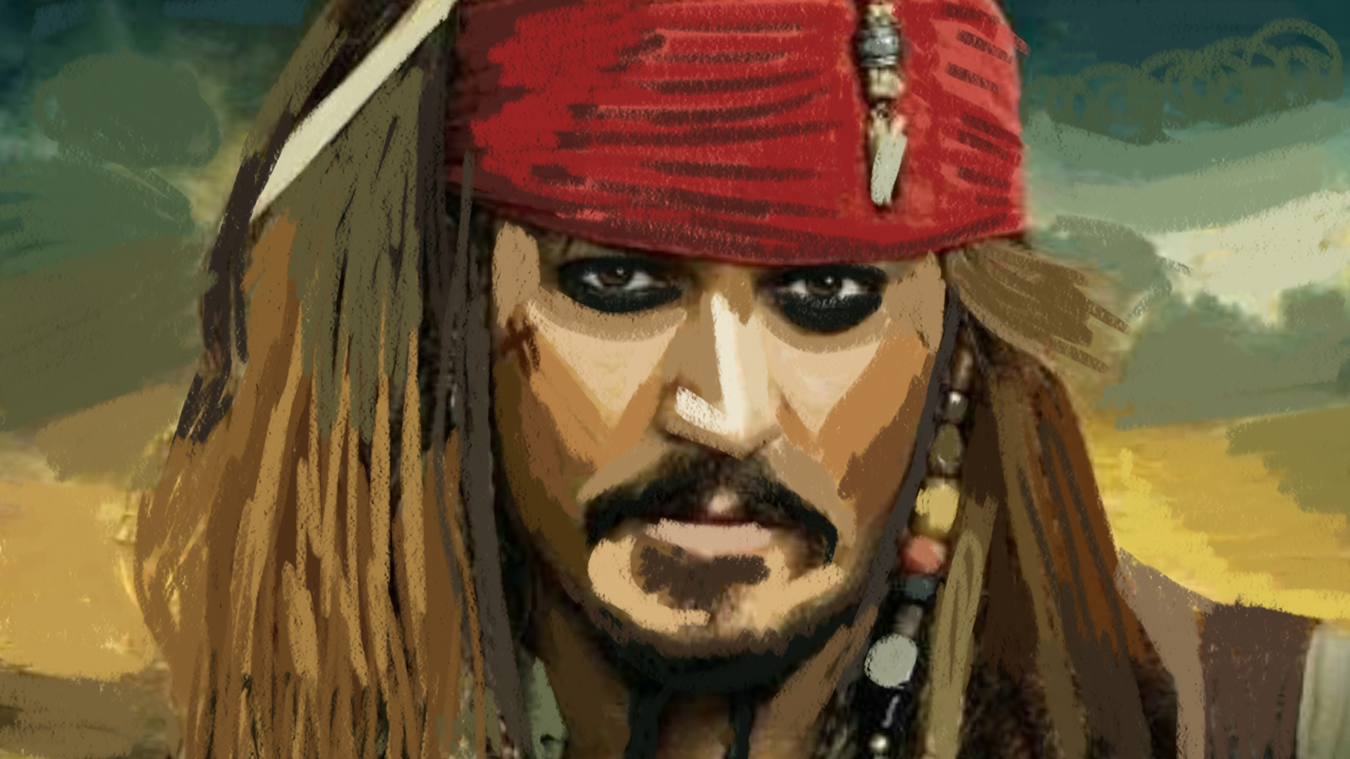 Captain Jack, dipinto di Faith Youssef