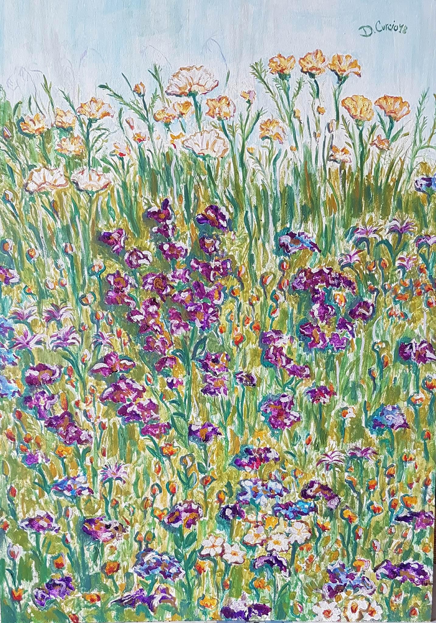 Dancing flowers, dipinto di Donatella Curcio