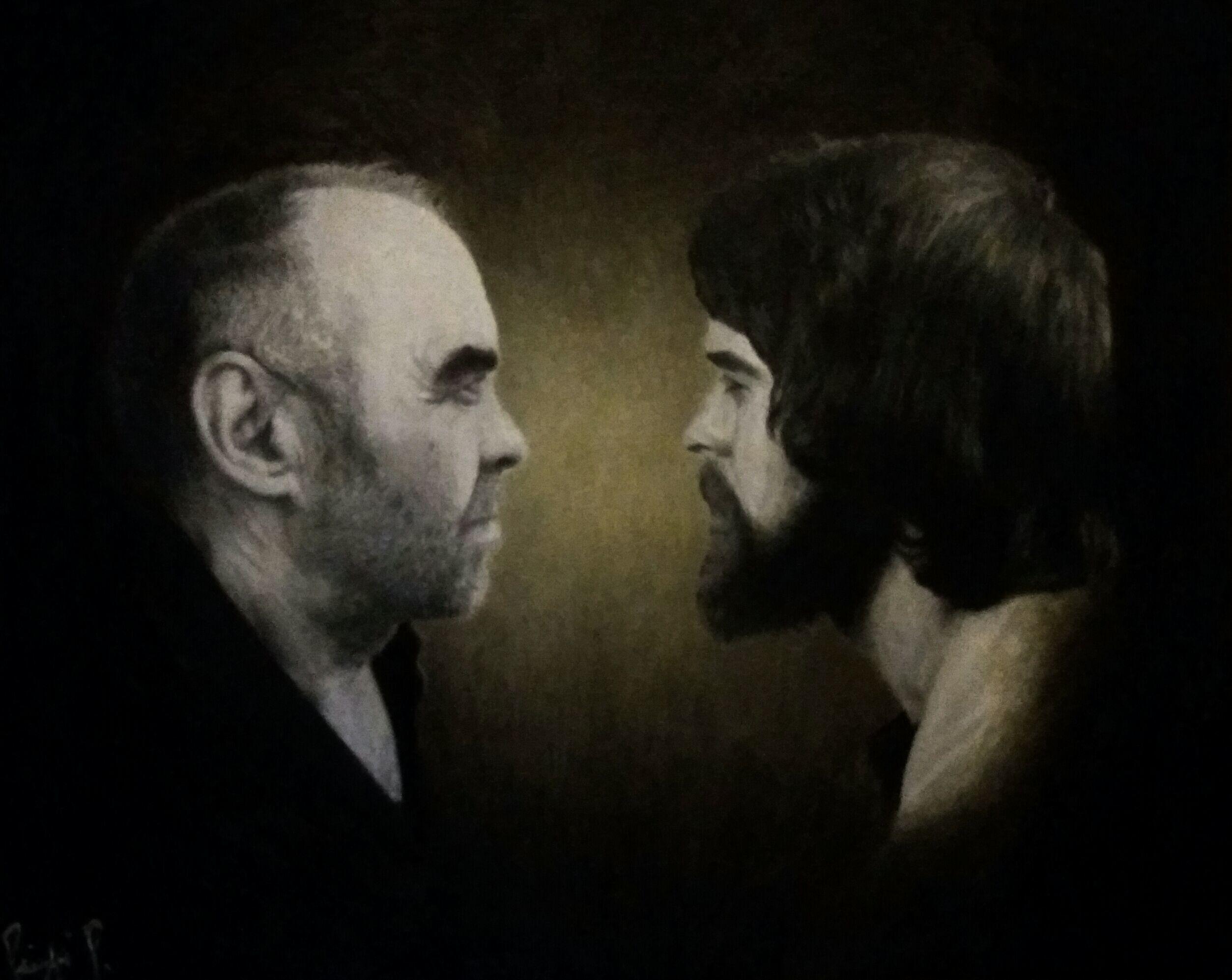 Guardarsi dopo quarant'anni, dipinto di Patrick Pioppi