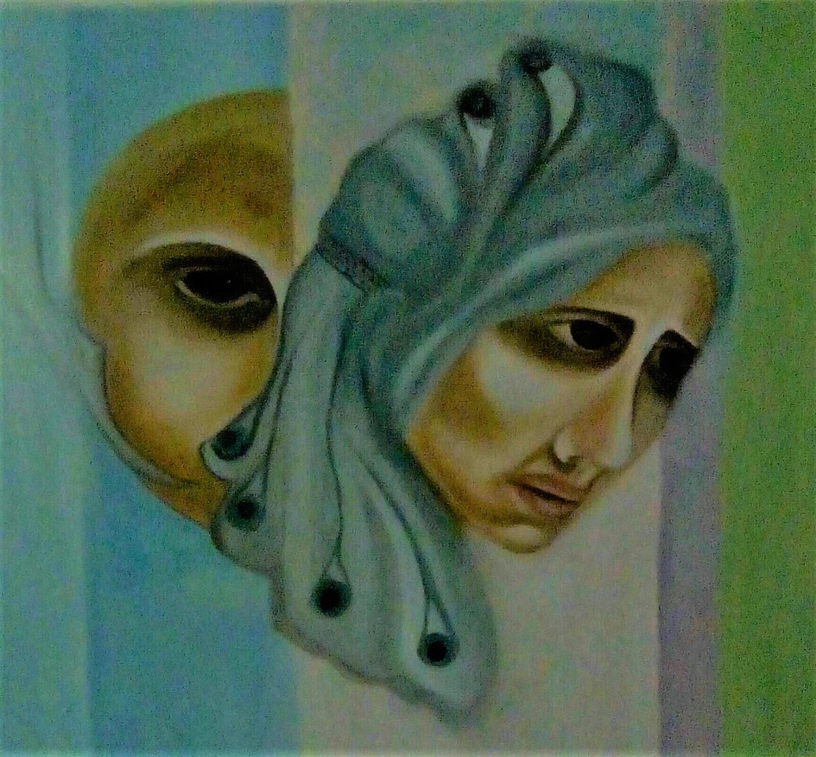 Il genio o genialità dipinto di Rosanna Romano / Roro