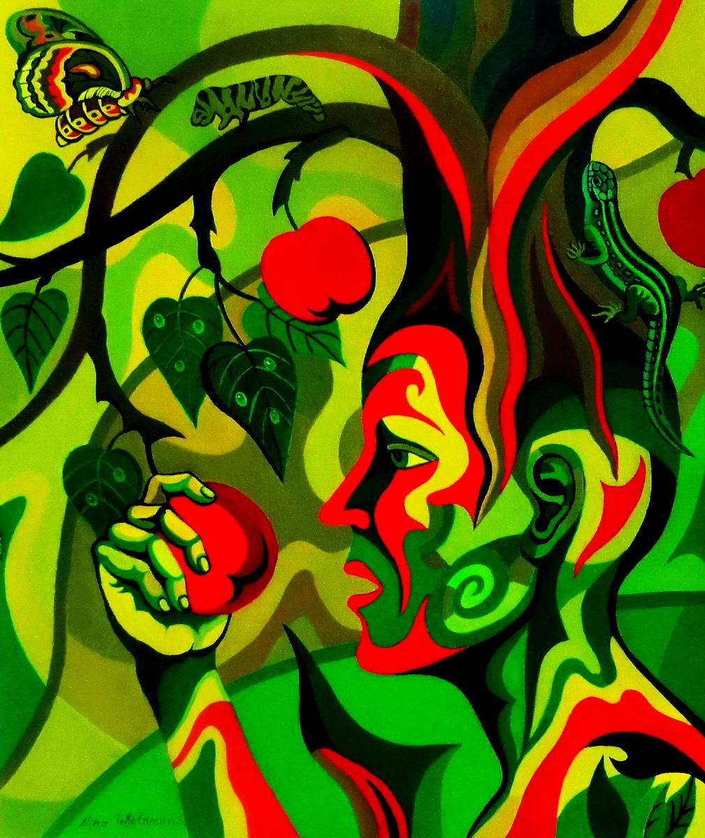 Eve and Tree of Knowledge, dipinto diNina Tokhtaman Valetova