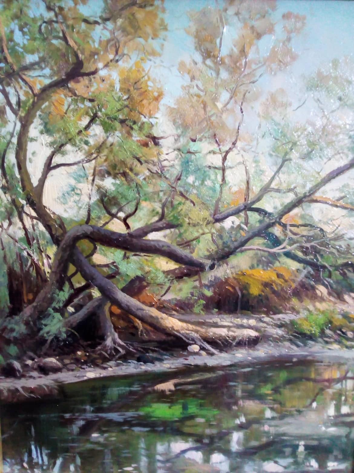 Lo stagno, dipinto di Enrico Capuano