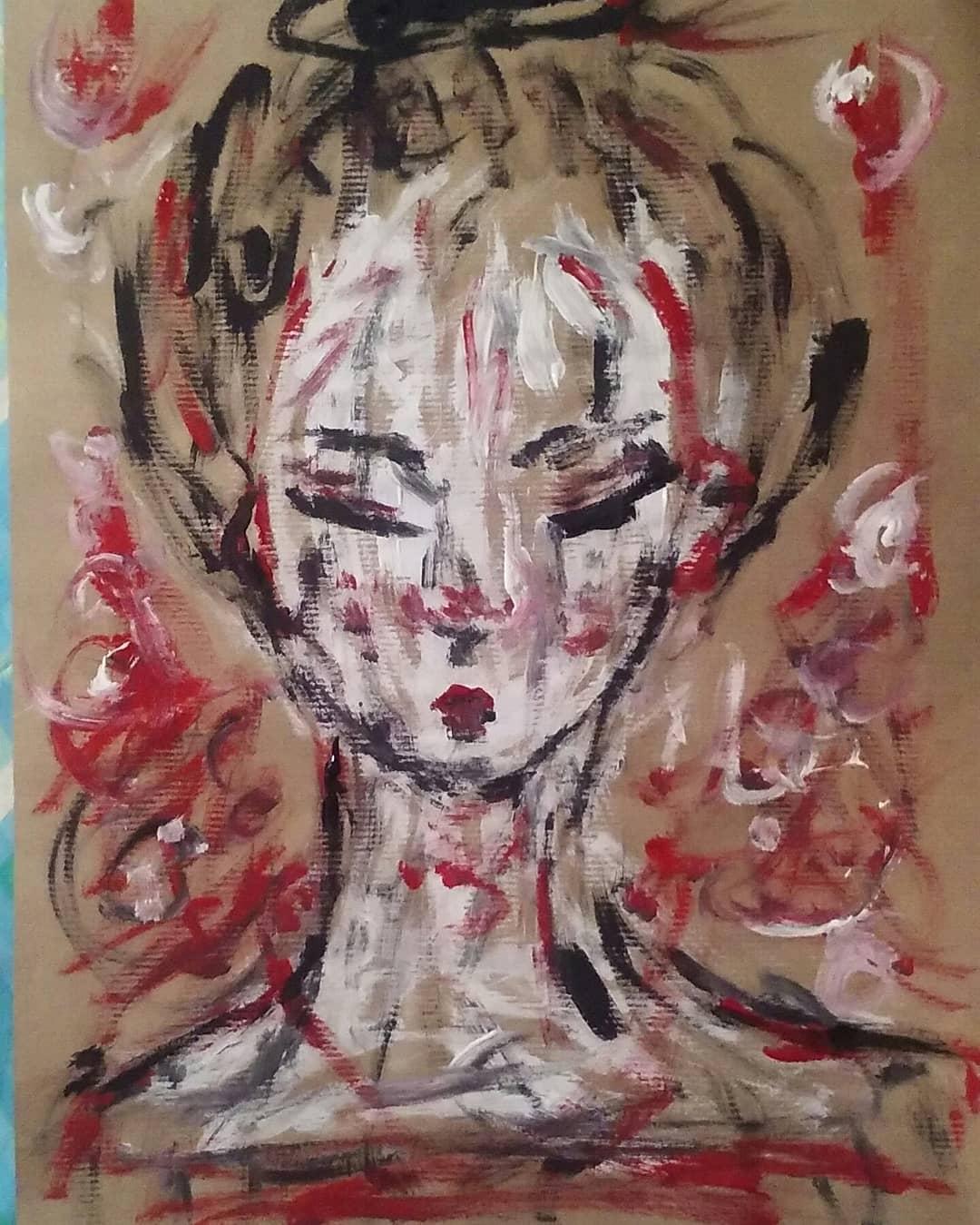 Fiore di ciliegio, dipinto di Sophia Angelide