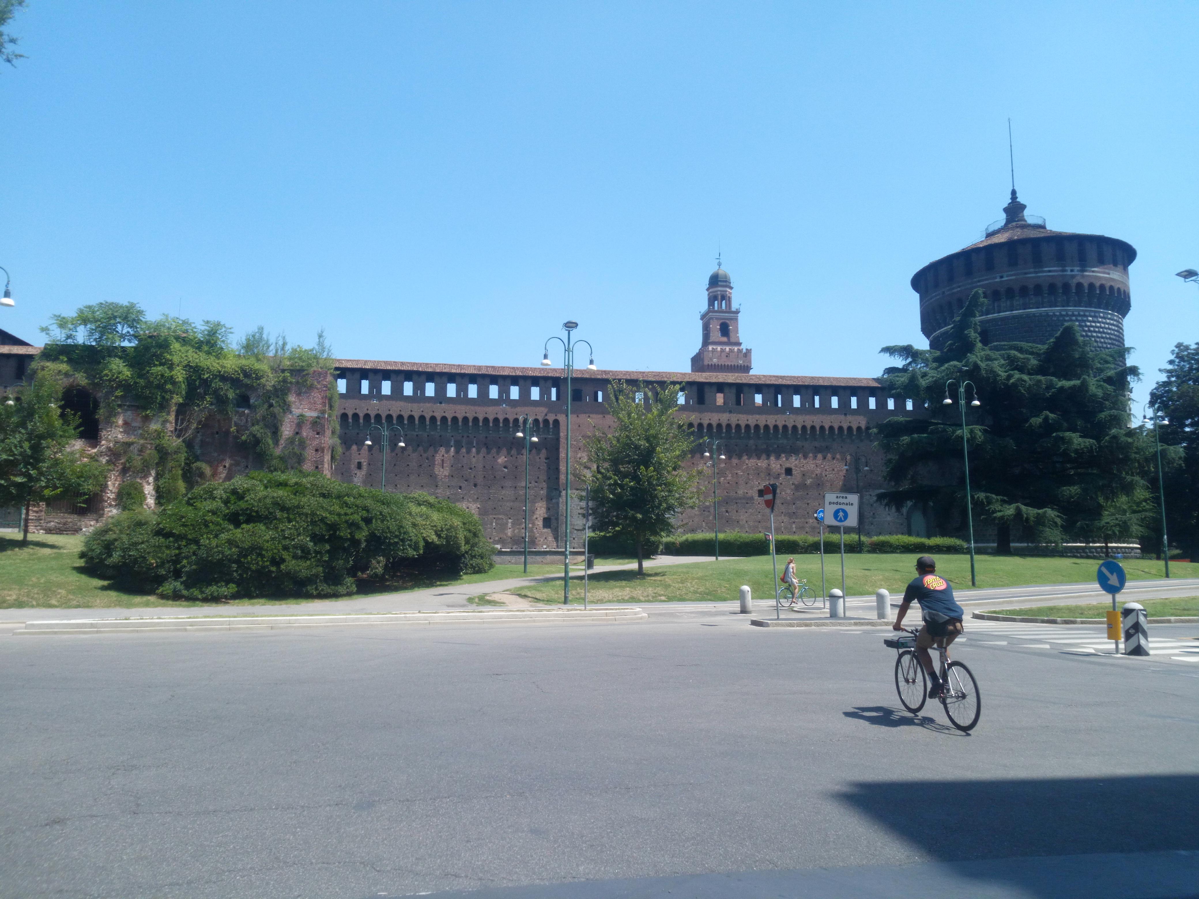 Passeggiando in bicicletta, fotografia di Marcella Ponassi