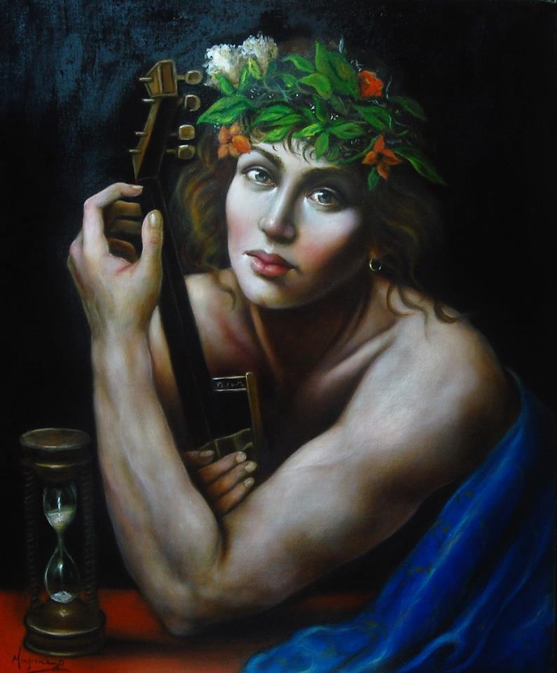 Efebo, dipinto di Domenico Mingione