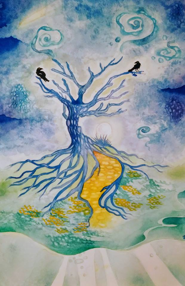 L'albero dei sogni, dipinto di Fabiola Bonghi