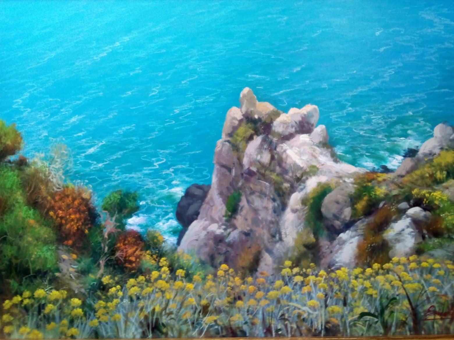 Punta dello Schiavo dipinto di Enrico Capuano