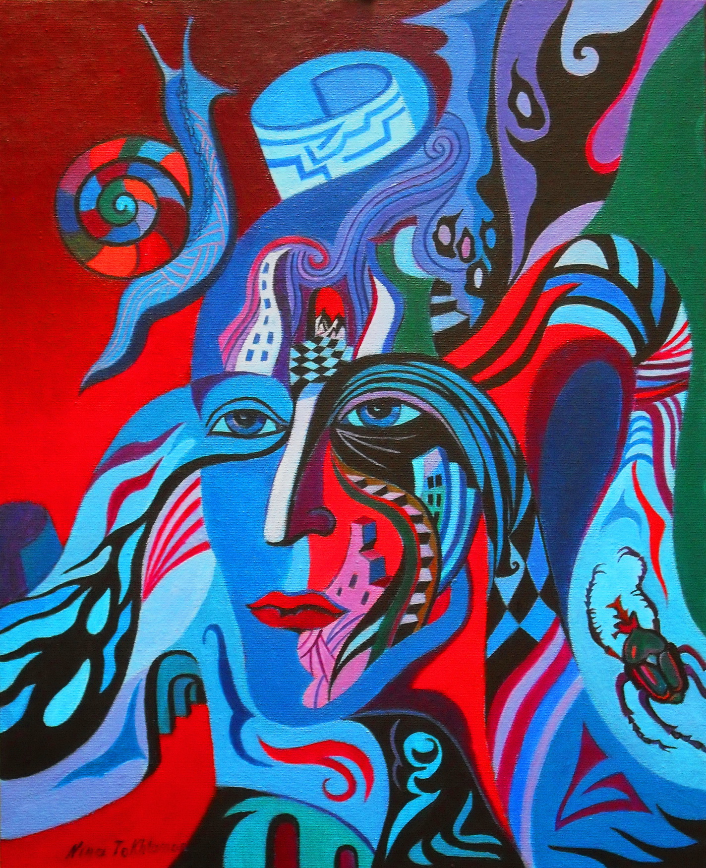 Alfa, dipinto di Nina Tokhtaman Valetova
