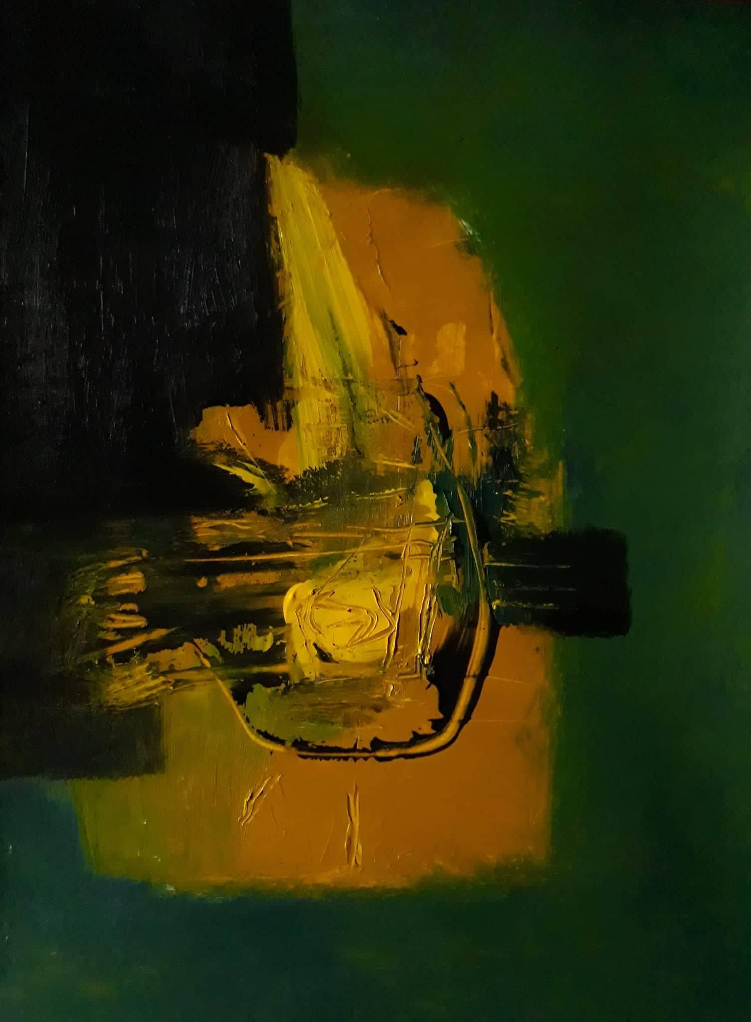 Birth of Poetry, dipinto di Somnath Basuthakur