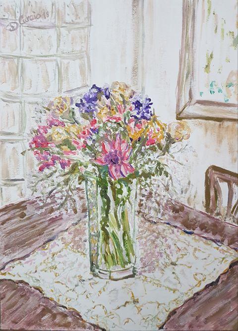 Fiori in autunno, dipinto di Donatella Curcio