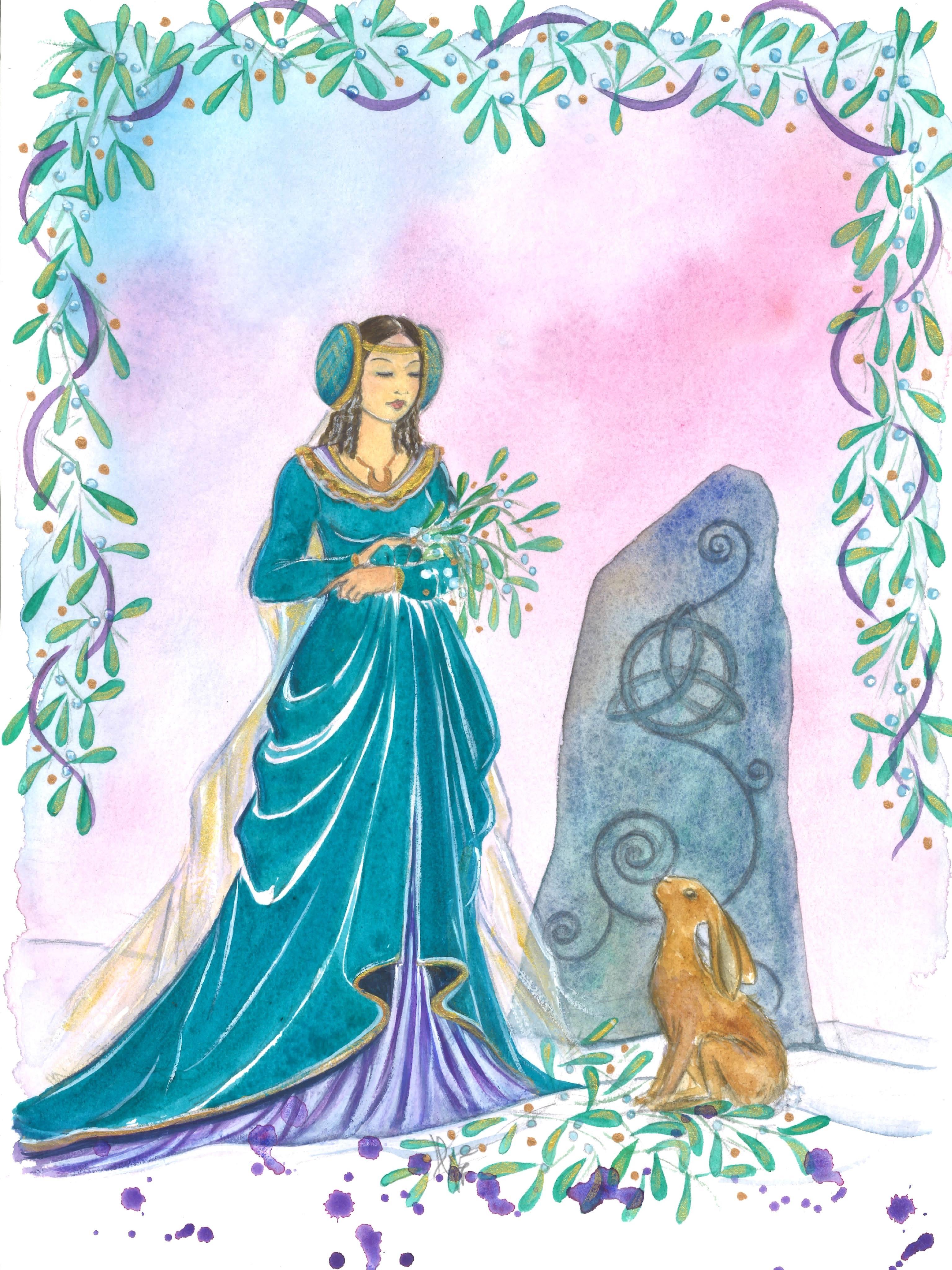 Natale Celtico, dipinto di Silvia Dotti