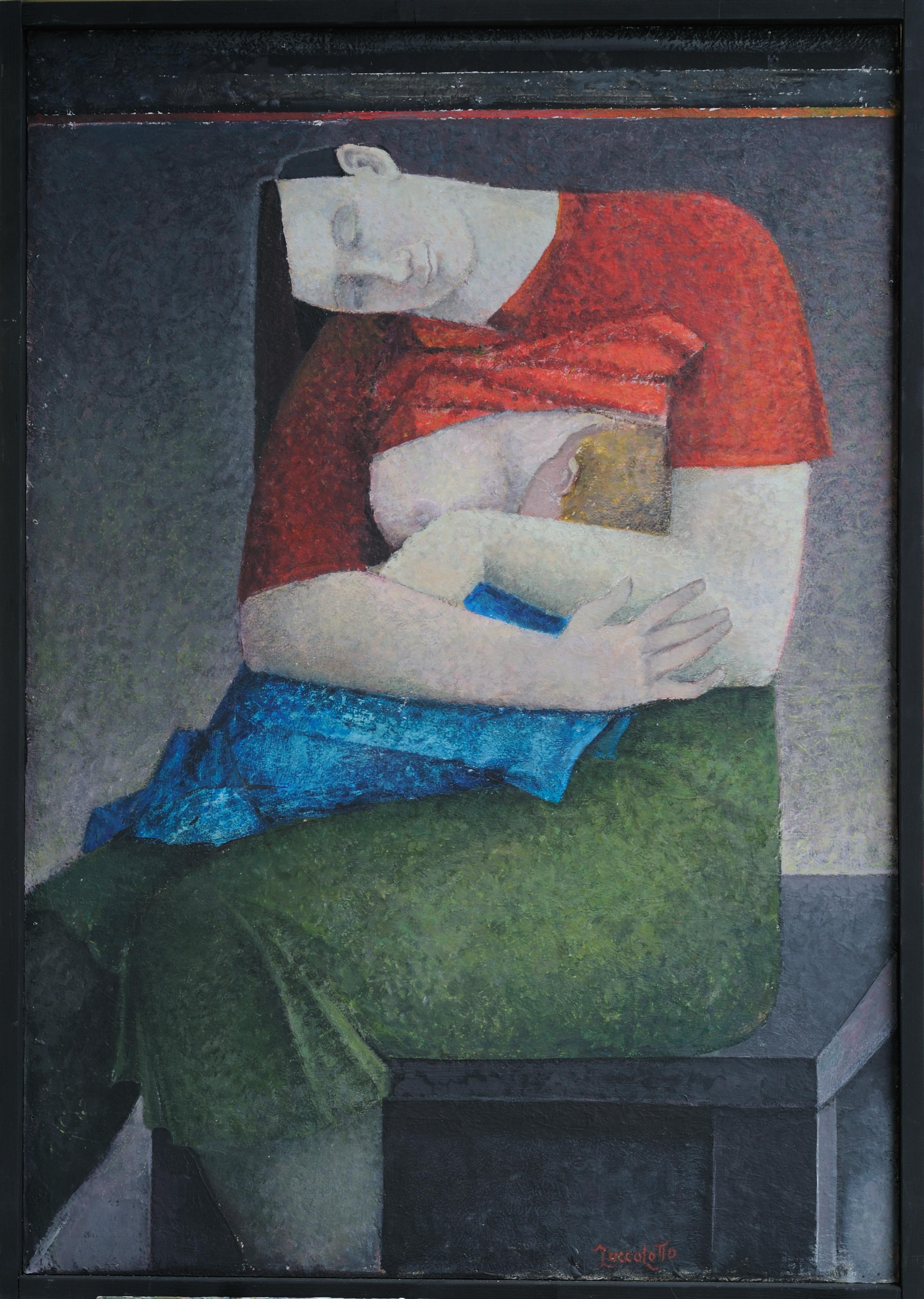 Maternità, dipinto di Grazia Zuccolotto