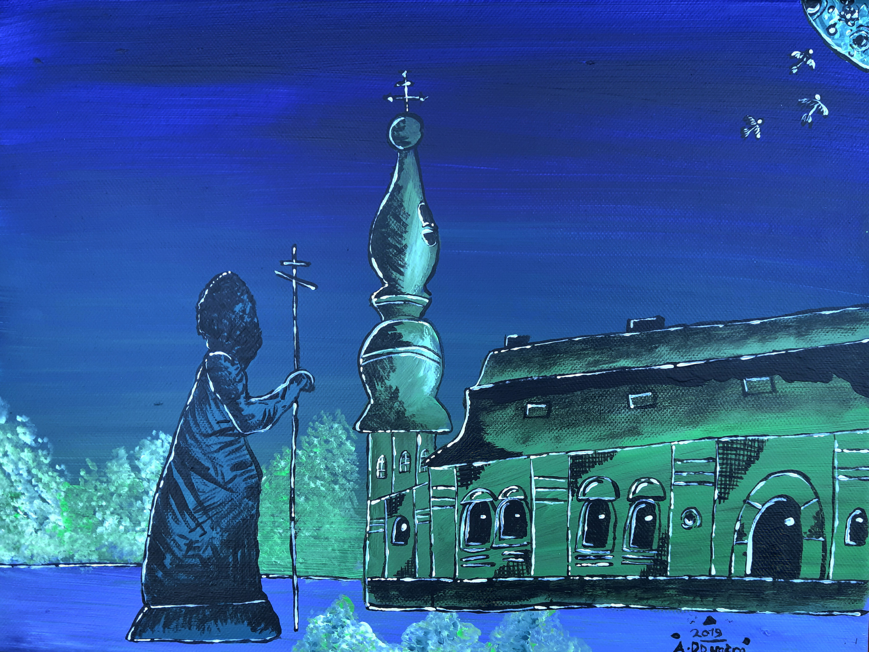 Kiev, dipinto di Adrien Dougère...