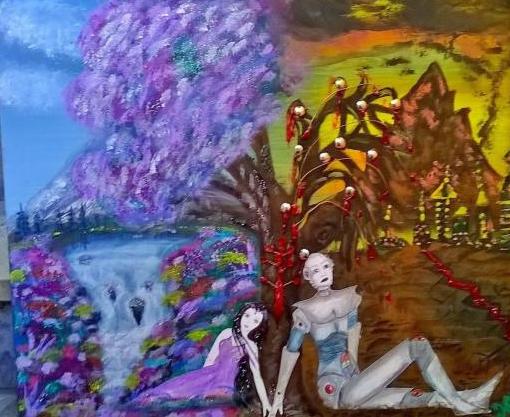 Amore senza confini, dipinto di Mariachiara Patriarca