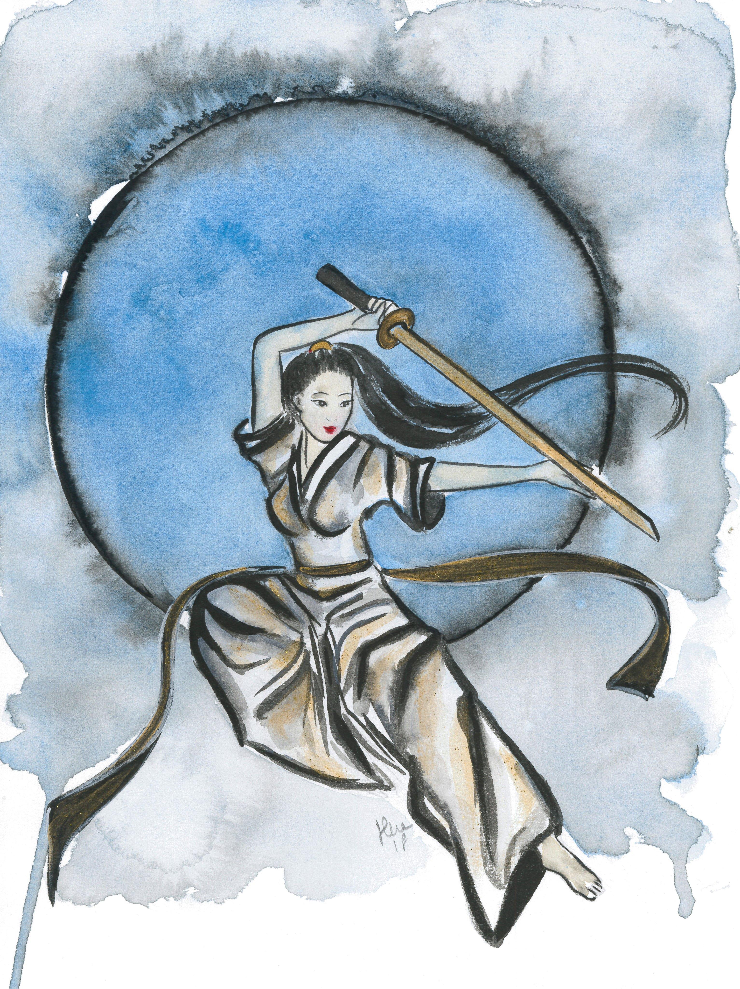 Aria, dipinto di Silvia Dotti
