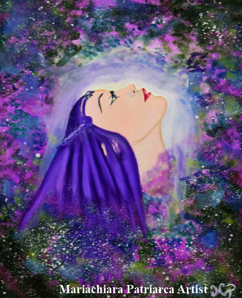 Fusione virtuale, dipinto di Mariachiara Patriarca