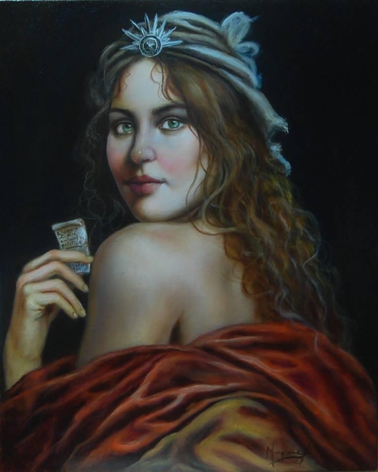 La bella filosofa, dipinto di Domenico Mingione