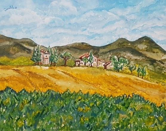 Soft landscape, dipinto di Donatella Curcio