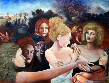 Incontro , dipinto di Maria Vinci