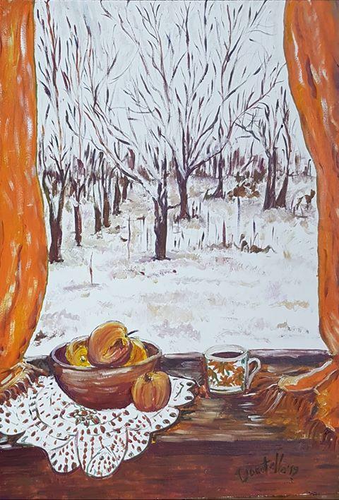 Taste of winter, dipinto di Donatella Curcio