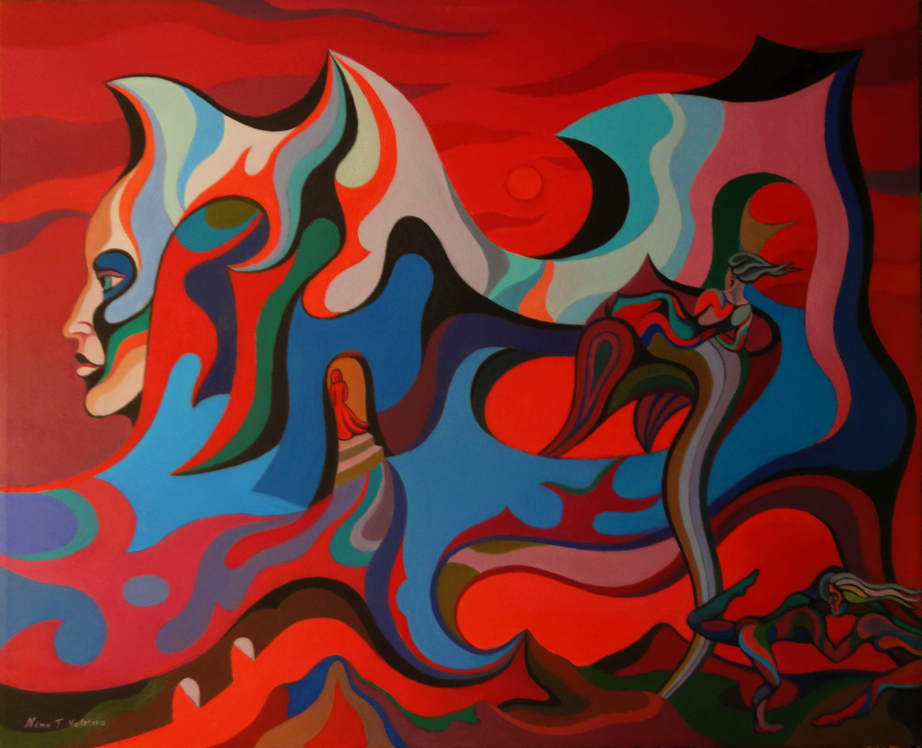 Forgotten World, dipinto di Nina Tokhtaman Valetova
